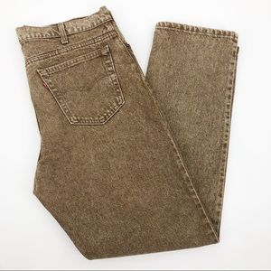 Vintage Levi's 540 Jeans Relaxed Stonewashed Tan